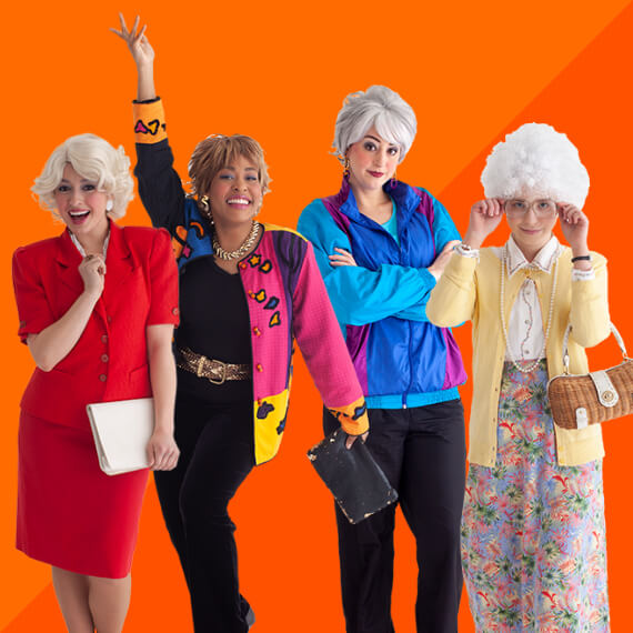 Photo of women dressed as Golden Girls characters for Halloween.