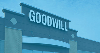 exterior photo of a Goodwill retail store