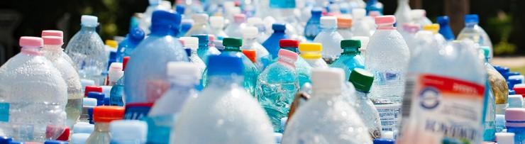 photo of plastic water bottles