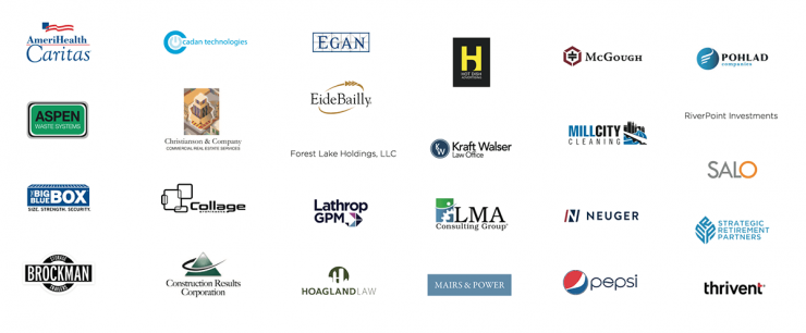 logos of dozens of company that are our community partners.